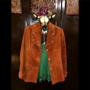 Vintage 60s/70s Suede Tailored Blazer